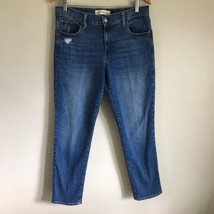Gap Distressed Real Straight Jean Size 12